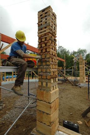 Waste Wood Structural Columns