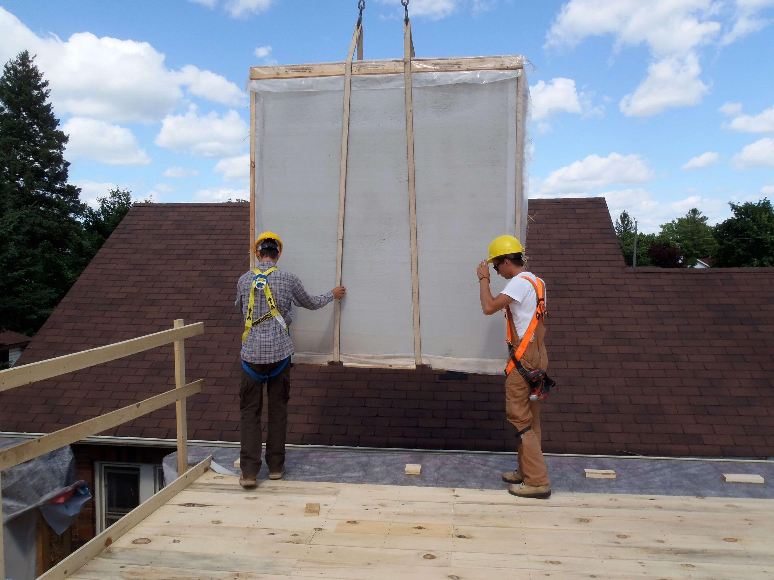 Prefab Wall Panels Installed