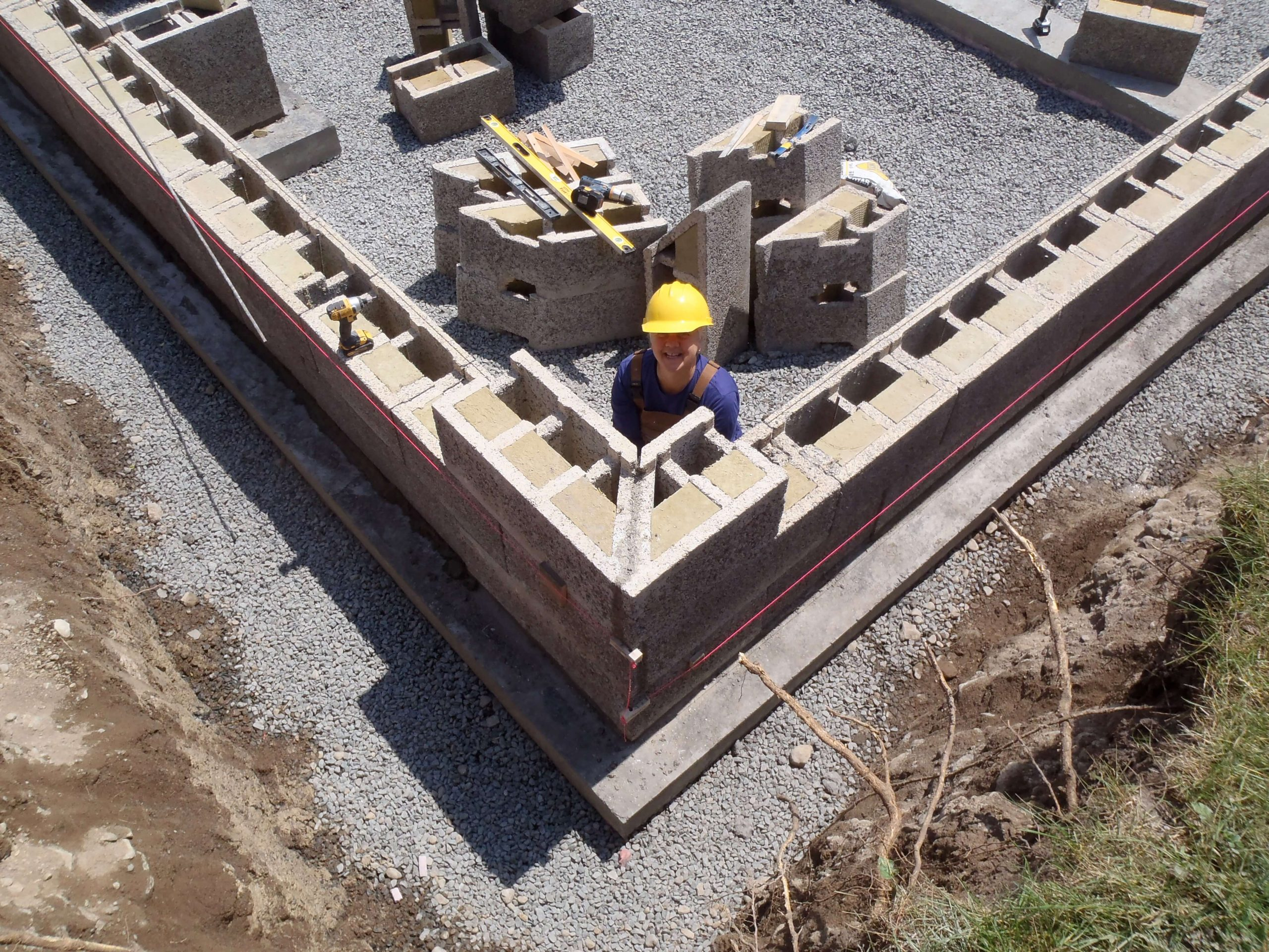 A Finished Durisol block foundation