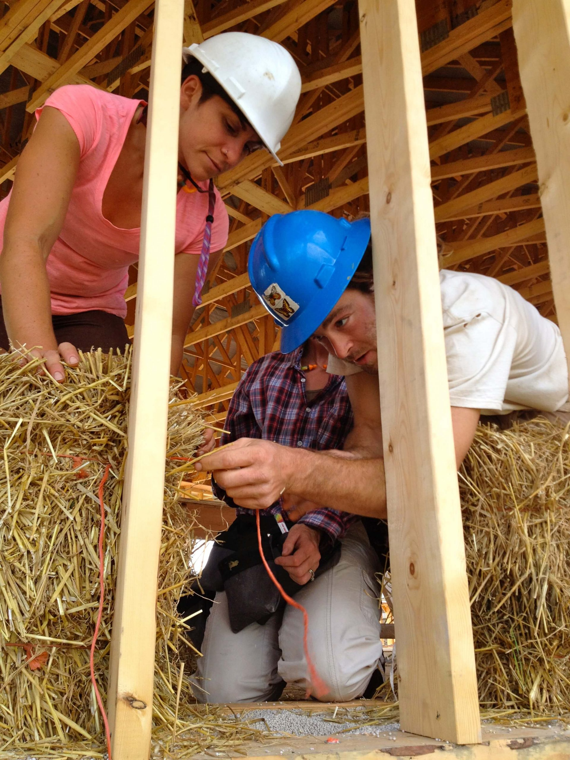 New system for straw bale walls