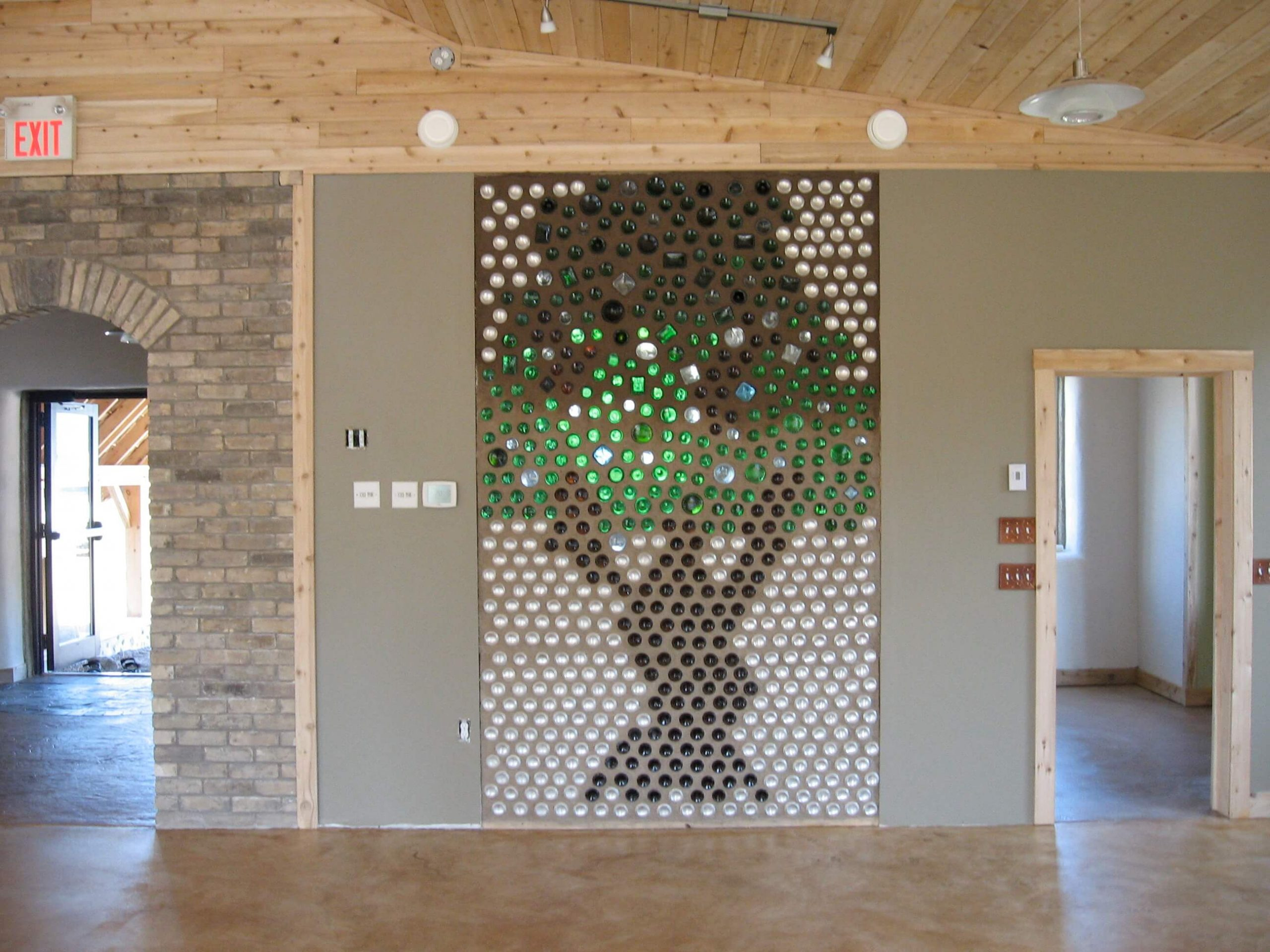 Building bottle wall features