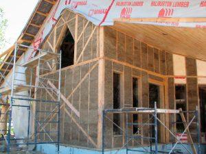 straw/clay insulation installed