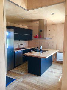 Wood finished kitchen
