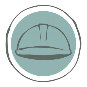 Icon with hard hat