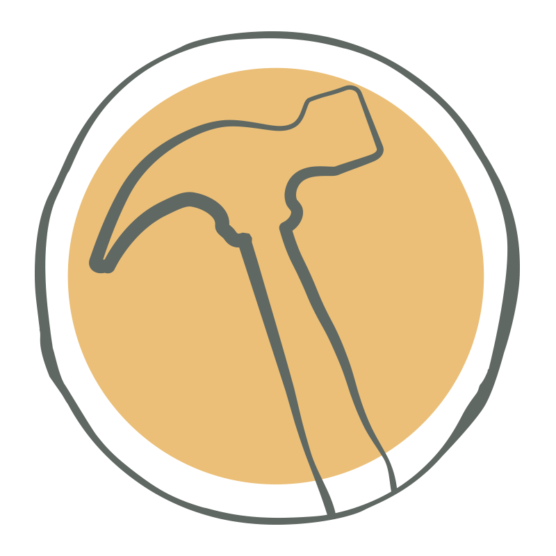 Icon with hammer