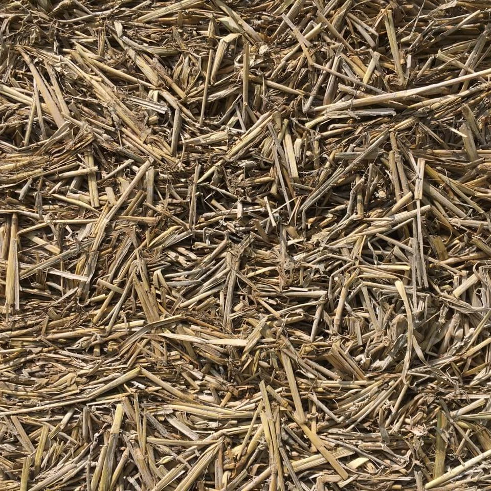A formed pile of straw