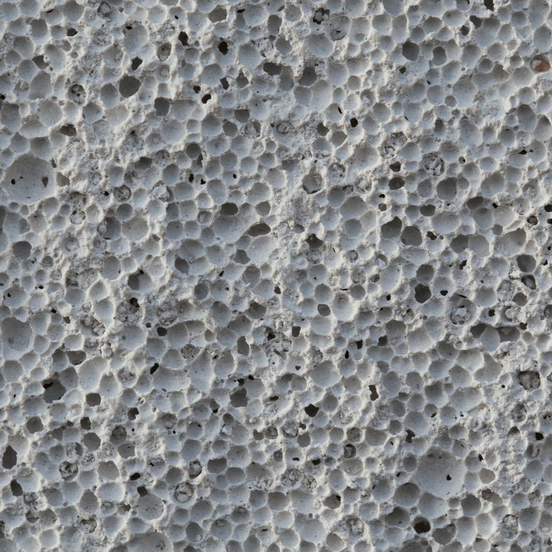 Porous cement close up image