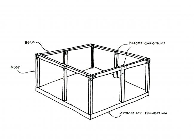post and beam diagram