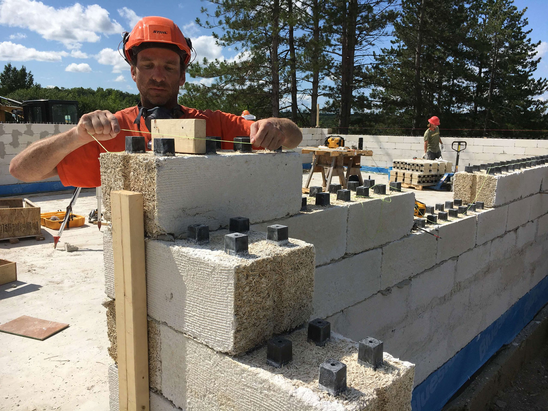 Just BioFiber Hempcrete Blocks for Zero Carbon Trent Forensics Facility