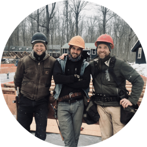 Picture of three men in hardhats